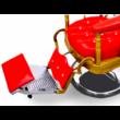 "Barber Chair - borbélyszék ""The King's Chair"" Red"
