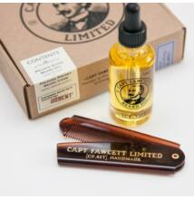 Captain Fawcett's Beard Oil and Folding Comb Gift Set