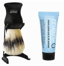 men-ü Black Barbiere Shaving Brush borotvapamcs tartóval