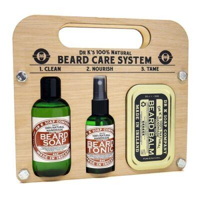 Dr K Beard Care System (Cool Mint) szakállápoló szett