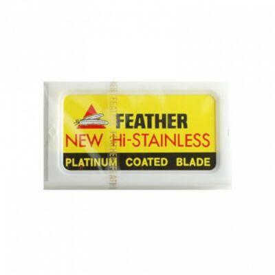 Feather New Hi-Stainless Platinum Coated DE Blades borotvavpenge (10db/csom)