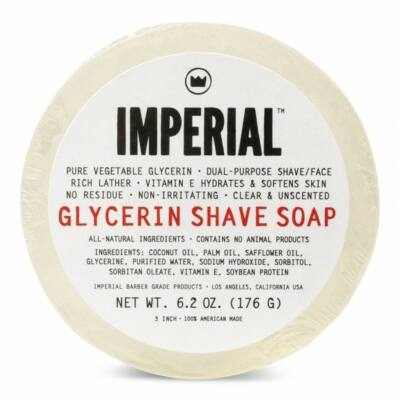 Imperial Barber Glycerin  Soap Puck 176g