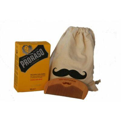Proraso Beard Balm and Comb Gift Bag