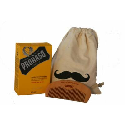 Proraso Beard Balm and Comb Gift Bag