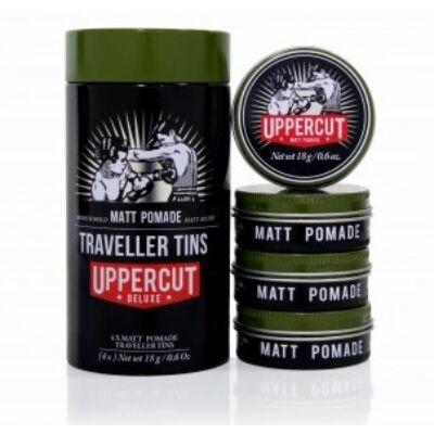 Uppercut Deluxe Traveller Tin Matt Pomade (4 x 18g)