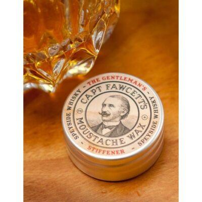 Captain Fawcett's Gentleman's Stiffener Malt Whisky Moustache Wax 15ml