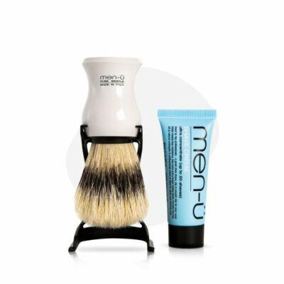 men-ü Barbiere Shaving Brush White borotvapamcs tartóval