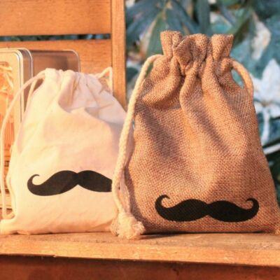 Gift Bag Moustache - bajszos ajándékzsák