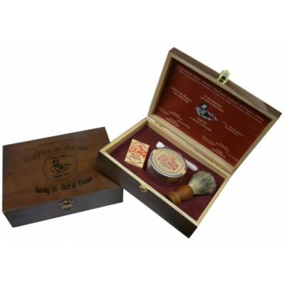 Osma Vintage Wooden Gift Boxed Shaving Set