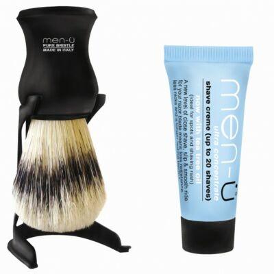 men-ü Barbiere Shaving Brush Black borotvapamcs tartóval