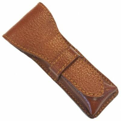 Parker Saddle Leather Safety Razor Case