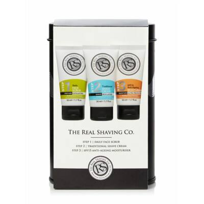 The Real Shaving Co. 3pc Tin Set ajándékszett