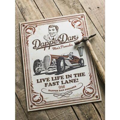 Dapper Dan Barber fém vintage tábla - Cream