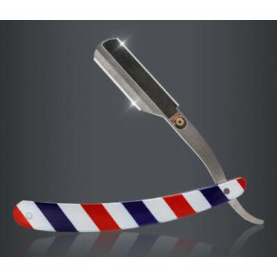 "Cut Throat Razor ""Barber Stripes"" Shavette"