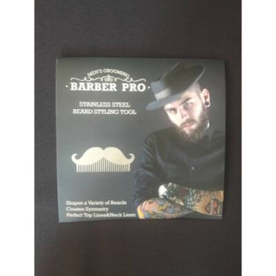Barber Pro fém szakáll fésű-bajusz forma