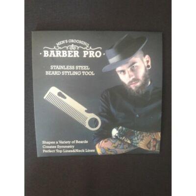 Barber Pro fém szakáll fésű-sörnyító