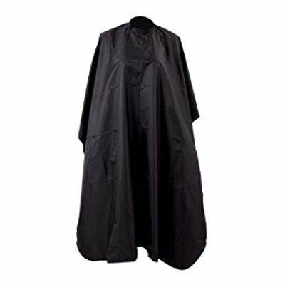 Hajvágó kendő fekete (kapcsos, gumis) 145x120