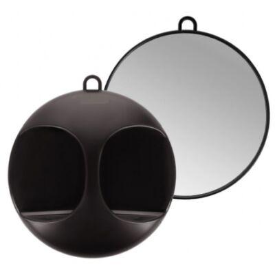 Lussoni Professional Back Round Mirror 29cm (black)