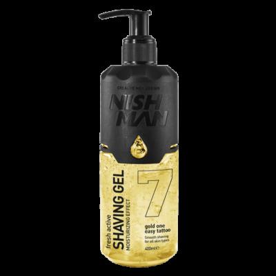 Nish Man Fresh Active Shaving Gel (Gold One) borotvagél 400ml