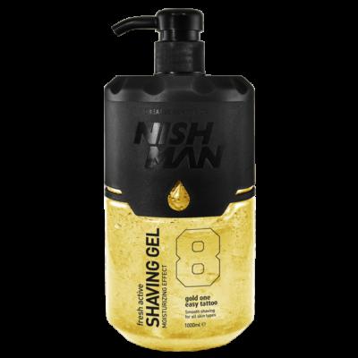Nish Man Fresh Active Shaving Gel (Gold) borotvagél 1000ml (Pro Size)
