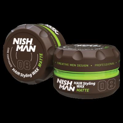 Nish Man Hair Styling Matte Wax (08) 150ml