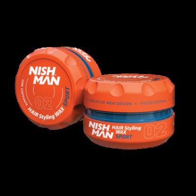 Nish Man Hair Styling Wax (02) Sport 100ml