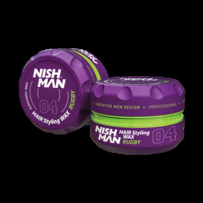 Nish Man Hair Styling Wax (04) Rugby 100ml