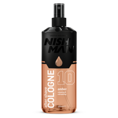 Nish Man After Shave Lotion Cologne 10 Amber 400ml (Pro Size)