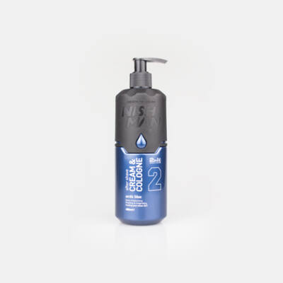 Nish Man After Shave Balm Cream&Cologne 2in1 (02) Arctic Blue 400ml (Pro Size)