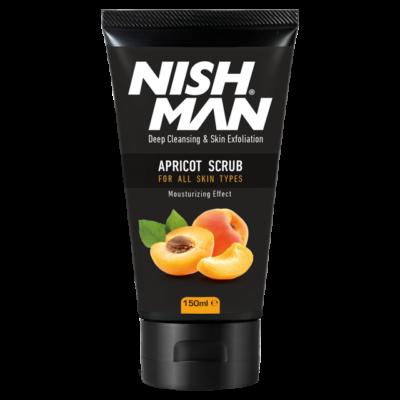 Nish Man Face Scrub Apricot arcradír 150ml (új)