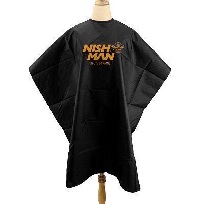 Nish Man Barber Cape (Black) fekete beterítő