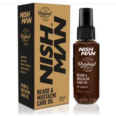 Nish Man Beard & Mustache Care Oil szakállolaj 75ml
