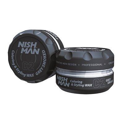 Nish Man Coloring & Styling Wax Smoked Grey 100ml