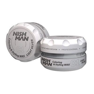 Nish Man Coloring & Styling Wax Light Silver 100ml