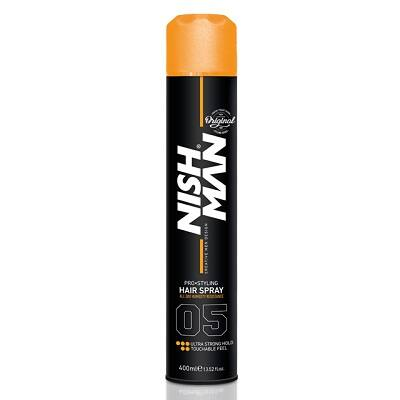 Nish Man Pro Styling Hair Spray (05) Ultra Strong Hold hajlakk 400ml