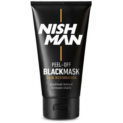 Nish Man Peel-Off Black Mask For Men 150ml