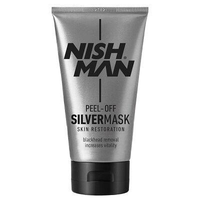 Nish Man Peel-Off Silver Mask For Men 150ml
