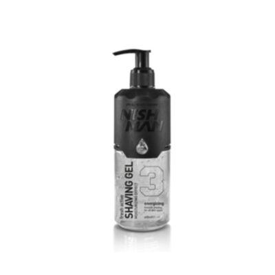 Nish Man Fresh Active Shaving Gel (Clear) borotvagél 400ml