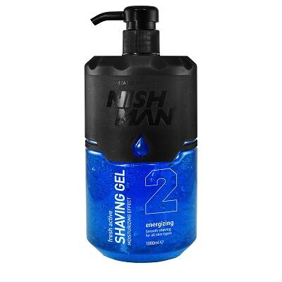 Nish Man Fresh Active Shaving Gel (Blue) borotvagél 1000ml (Pro Size)
