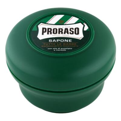 Proraso Shaving Soap in a bowl Green borotválkozó szappan 150ml