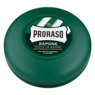 Proraso Shaving Soap in a bowl Green borotválkozó szappan 75ml