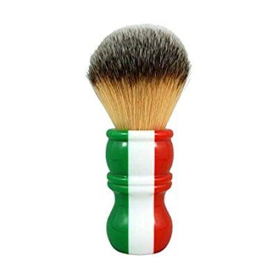 RazoRock Italian Barber Tri-Color Plissoft Synthetic Shaving Brush - 24mm Knot