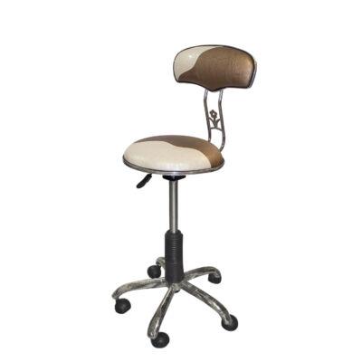 Salon Collection SX-850 háttámlás forgó ülőke (bronz/arany-krém)
