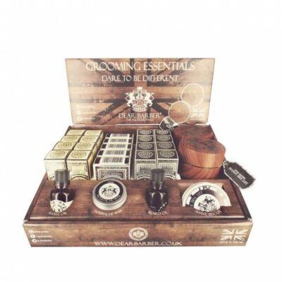 Dear Barber Display Grooming Stand (fully stocked) kínáló doboz +29 termék