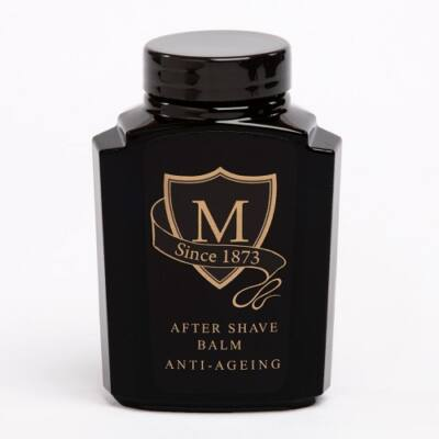 Morgan's Anti-Ageing After Shave Balm In Retro Glass Black Jar 125ml