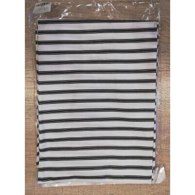 Beterítő kendő 140x160 kapcsos fehér csíkos