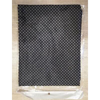 Beterítő kendő 140x160 kapcsos fekete mintás