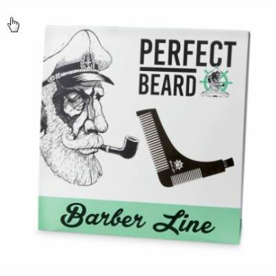 Barber Line Perfect Beard szakállfésű és sablon