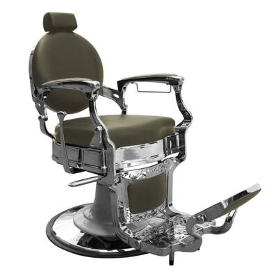 """Barber Chair - Barber Line """"Classic"""" Green/Chrome"""