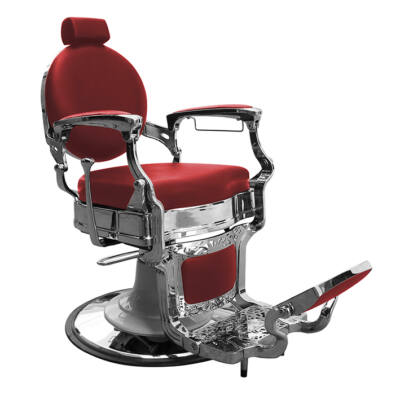 """Barber Chair - Barber Line """"Classic"""" Red/Chrome"""